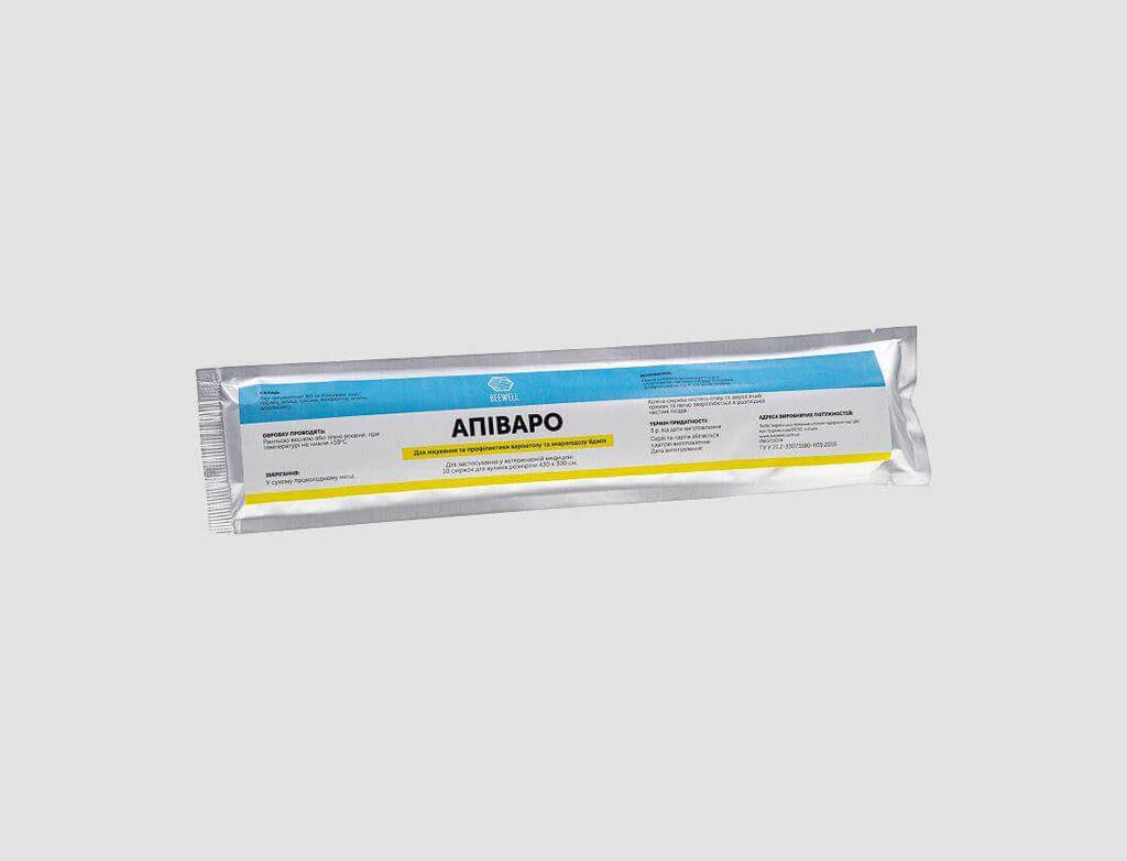 """Лікування та профілактика вароатозу """"Апіваро"""" (для вуликів 430×300см) 10шт."""