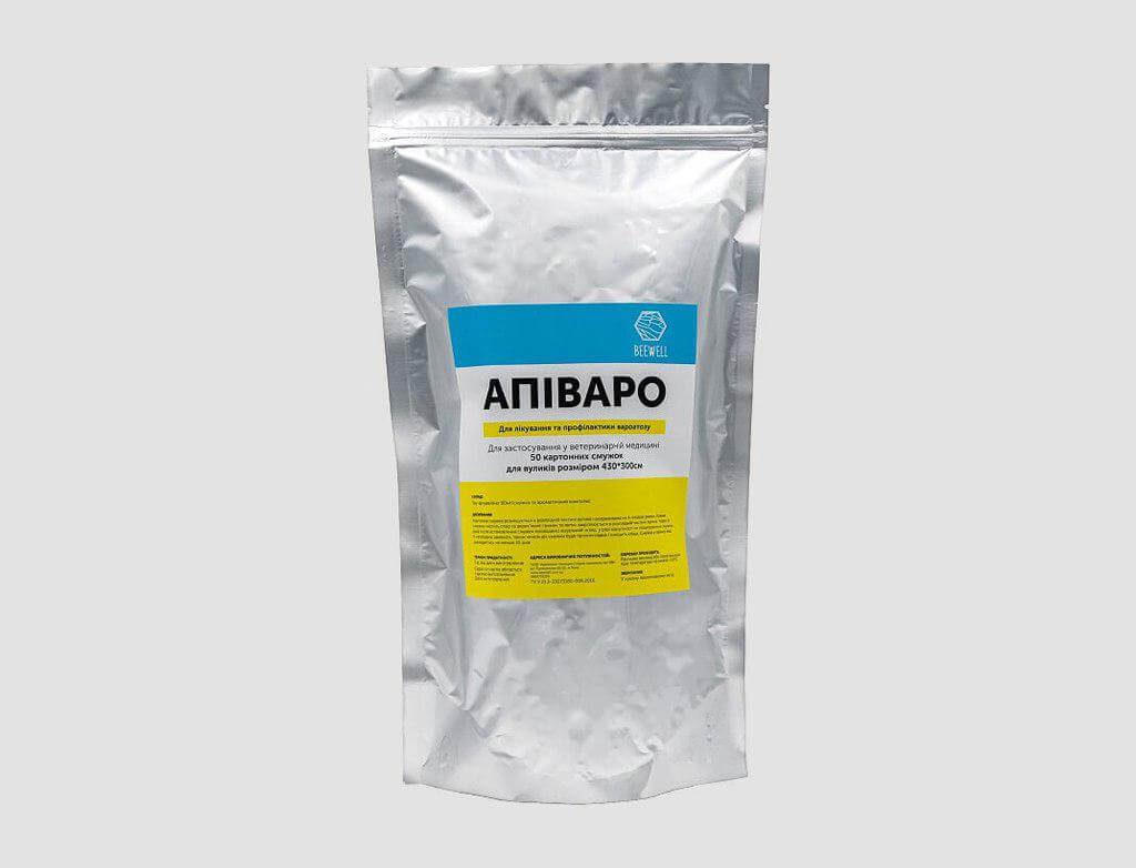 """Лікування та профілактика вароатозу """"Апіваро"""" (для вуликів 430×300см) 50шт."""