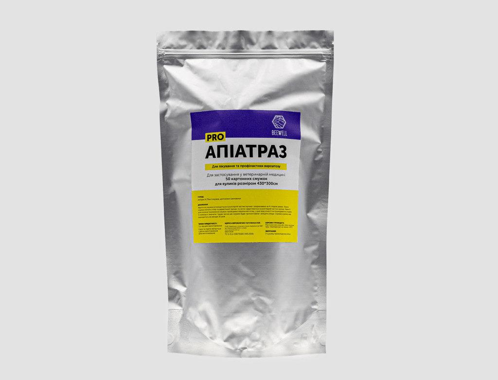 Профилактика и лечение пораженных клещами пчел «Апиатраз» (для ульев 430×300см) 50шт.