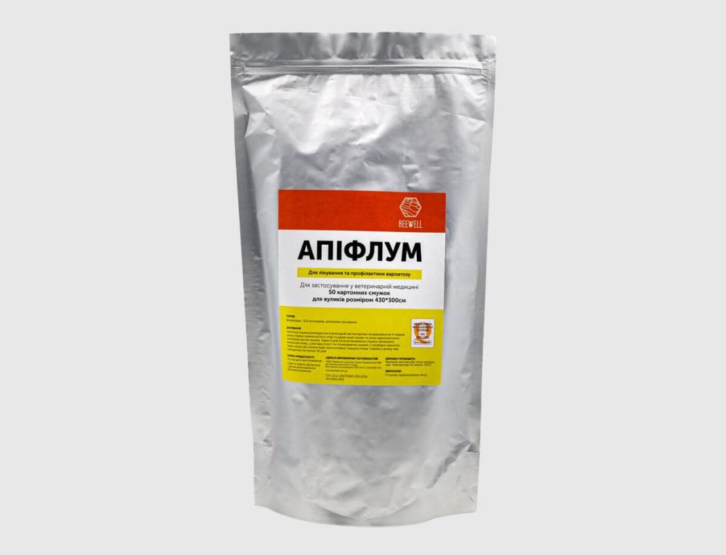 Лікування та профілактика вароатозу «Апіфлум» (для вуликів 430×300см) 50шт.